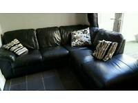Black corner sofa 3 years old great condition