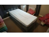 Single Divan Bed with Lift Up Storage and Mattress, Excellent Condition
