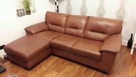 Leather L Shaped Sofa