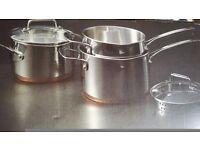 Copper bottom pot set m&s new