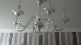 ceiling light chandelier crystal / glass