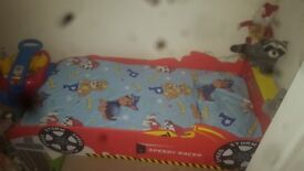 Red kids car bed