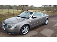 Audi A4 Convertible / Cabriolet, 2.5TDI, Diesel, 6 speed manual gearbox