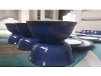 Denby Imperial Blue Dinner Set for 6 30 pieces - excellent condition