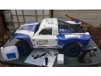 Km x2 blue deluxe not rc losi baja new