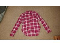 Pink Check Girls Hollister Shirt XS