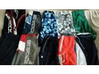 "Bundle of 10 pairs of boys/men's varied shorts 30"""