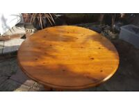 Beautiful solid pine folding dining table