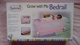 Toddler bed rail -pink BRAND NEW IN BOX