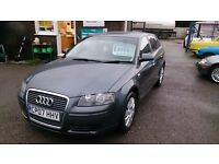 2007 AUDI A3 1.6 SPECIAL EDITION GREY BRAND NEW MOT 104K F/S/H TIMING BELT DONE ALLOYS TINTED GLASS
