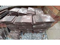 Sandtoft brown plain roof tiles. Approx 250.