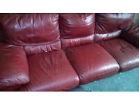 leather suites for sale two three seaters