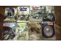 """Auto jumble 1970s car magazines """"On four wheels"""""""