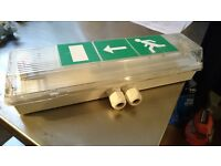 2x Emergency/Exit Light Fittings (As Good As New)