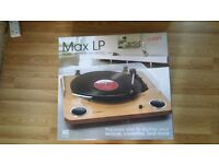 Ion Max LP USB Vinyl Transfer Archive Belt Turntable Record Player inc Speakers