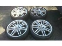 "VW AUDI 19"" ALLOY WHEELS & TYRES 5X100 GOLF MK4 TT SEAT LEON BORA"