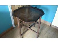 Old wooden reversible card table