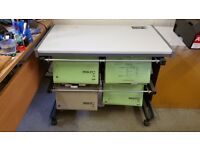 Free standing foolscap filing unit fits under table - equivalent to 4 drawer cabinet