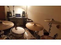Music Studio Available for Rental (Full Drum Kit, Interface, Monitors, Microphones, Video Cameras)