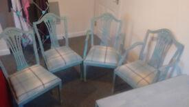 Custom refurbished dining room table set (4 seats)