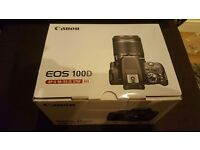 Canon EOS 100D Digital SLR Camera with EF-S 18-55mm f/3.5-5.6 IS STM Lens HD 1080p 18MP Touch Screen