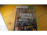 Xbox 360 grand theft auto five game comes with book and box vgc