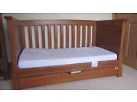 Mamas & Papas Ocean Range Dark Oak Cot Bed & Changing Unit