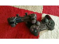 2 x OFFICIAL Sony PS3 Dualshock Bluetooth Controllers