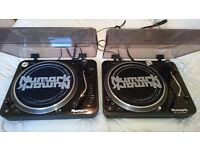Numark TT100 pair of direct drive turntables, quality decks in great condition