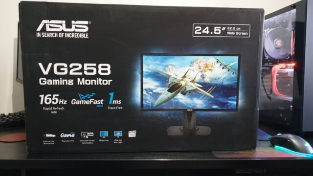Asus VG258QR 165hz 0 5ms 24 5inch Gaming Monitor FreeSync and G-sync  compatible | in Nechells, West Midlands | Gumtree