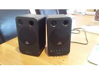 Great Condition Behringer MS16 Active Studio Monitor Speakers