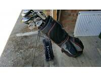 Golf clubs and bag etc