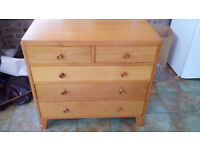Solid Wood Chest of Drawers £50 ono