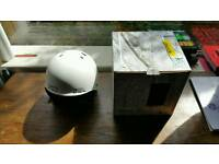 New with tags Smith Holt small size helmet. Size 51-55cm matte white.