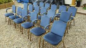 Job lot of 21x chairs - theater movie prop pub club restaurant hall waiting room shop cafe