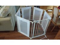 Babystart Metal & Fabric Playpen White Unused. Complete with wall fixing kit and instructions