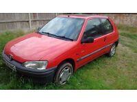 Peugeot 106 Look+ 1.2 Petrol, 96,832 miles, 2 door