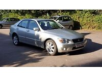 2002 Lexus IS200 Just 54500 Miles, New MOT, Full service history