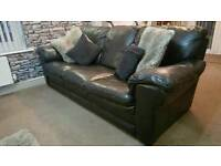 Real Leather 3 And 2 Seater Sofa