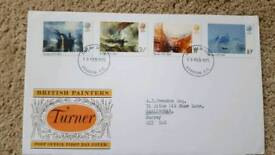 BRITISH PAINTERS - TURNER - FIRST DAY COVER FROM 1975