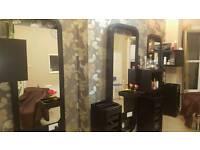 Salon furniture. Mirrors, Reception desk and back wash
