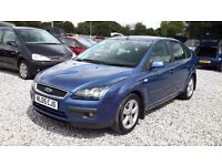 Ford Focus 1596cc Petrol Hatchback, (2005)05 Blue, Manual MotExpires: 21 May 2017