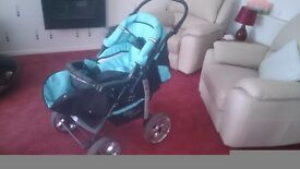 Due to lots of time wasters , this pram is being reposted , open to any sensible offer .
