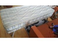 Small collapsable single bed