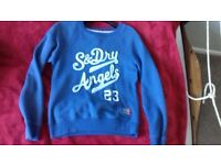 Superdry blue jumper sweater small