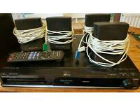 Panasonic dvd/cd player surround sound system