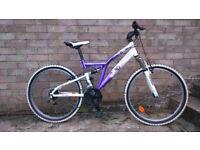 Girl purple and white MTB