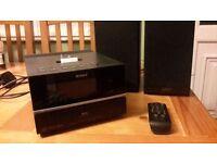 Sony hi Fi with dab radio, cd player and ipod dock