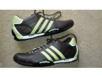 Adidas Goodyear Brown Leather Vintage Trainers in size UK 12