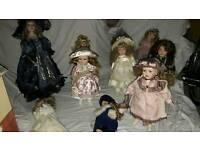 Porcelain dolls x10